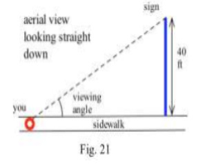 if your viewing angle is 10 degrees and is increasing at 2degrees per minute then how fast are you walking